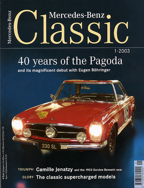 Mercedes benz classic magazine with racing pagoda for Mercedes benz classic magazine