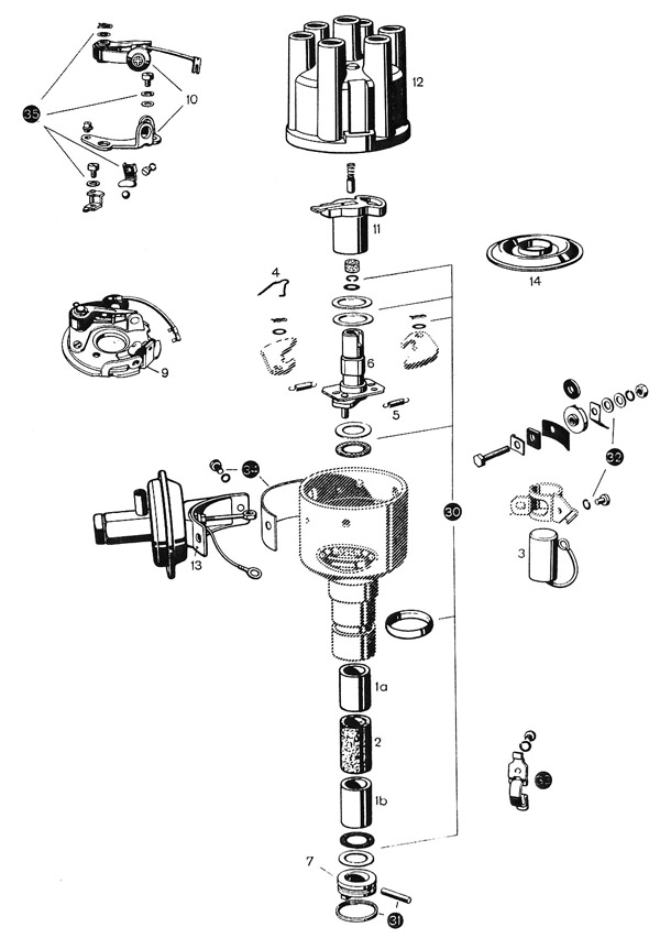 pagoda sl group technical manual electrical distributor points ignition system diagram
