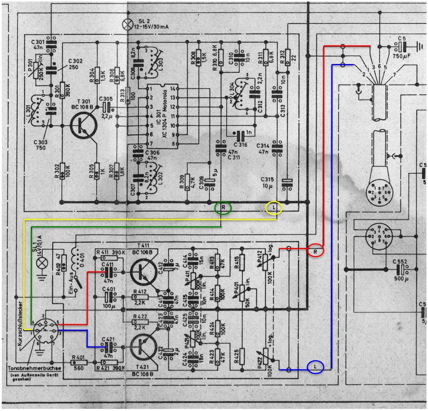 Pagoda sl group technical manual electrical ipod this is the circuitry for a stereo radio with separate amplifier for example europ stereo mu or grand prix stereo the relevant din 7 socket is shown in cheapraybanclubmaster Choice Image