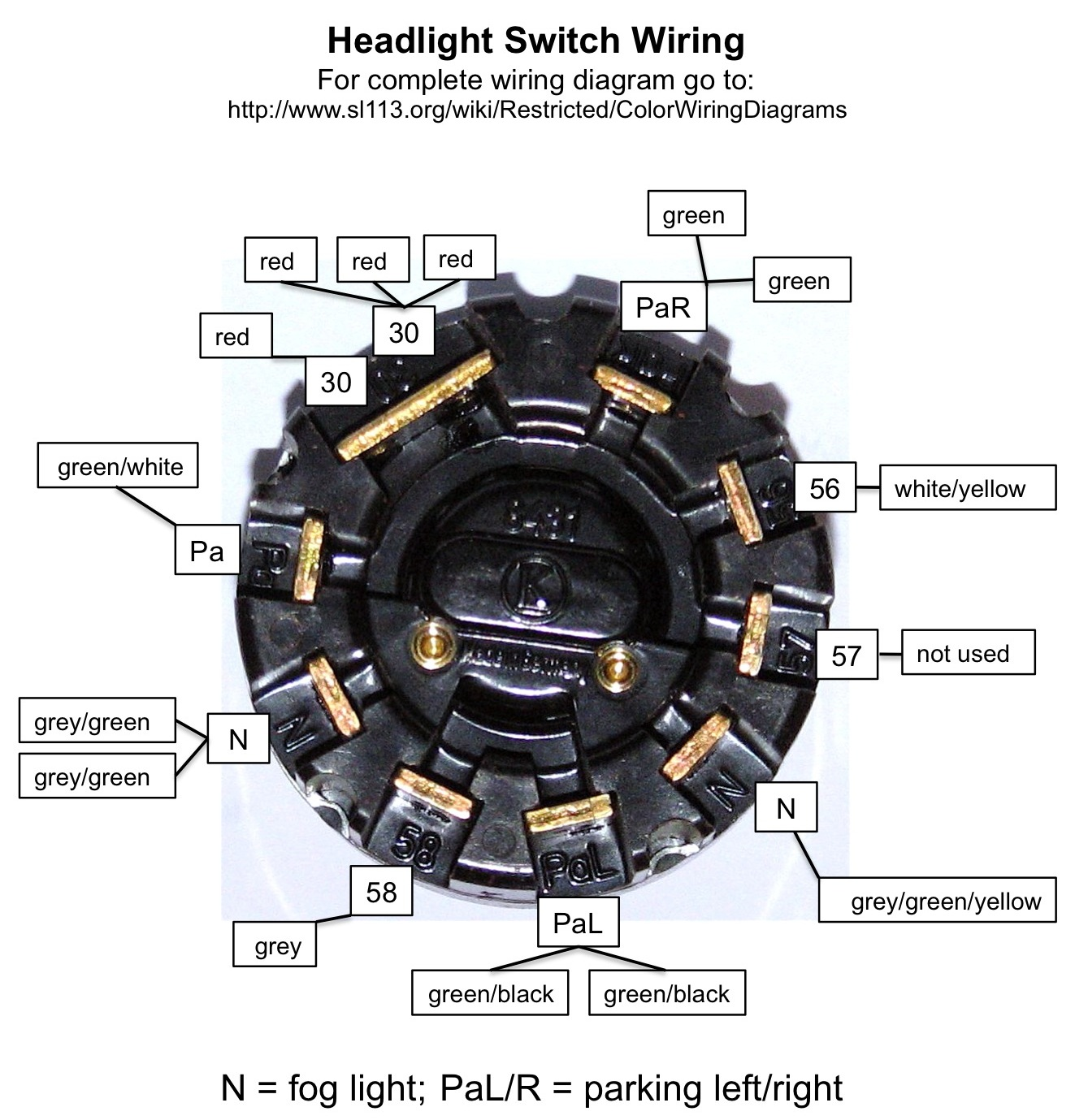 Pagoda Sl Group Technical Manual Electrical Lightswitch Led Halo Headlight Wiring Diagram Repair