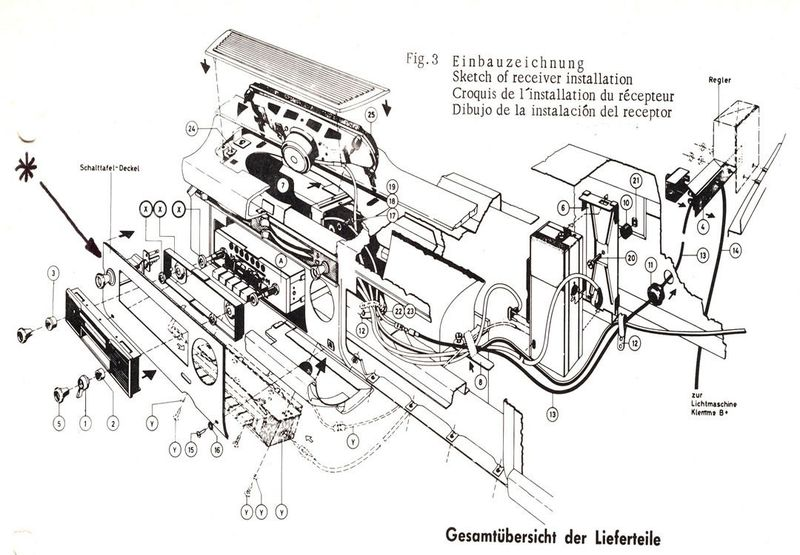 RdoMtg230r pagoda sl group technical manual electrical radio 1973 Mercedes 450SEL at crackthecode.co